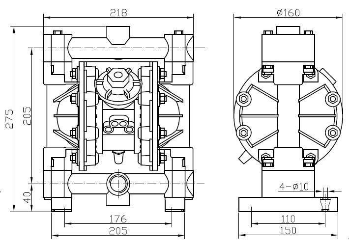 mbv15 aluminium diaphragm pump
