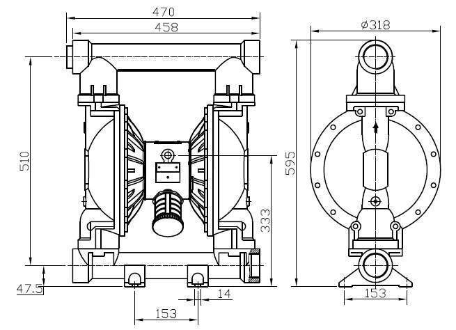 mbv50 diaphragm pump ductile iron