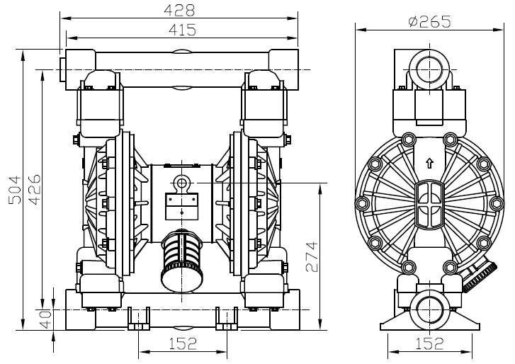 mbv40 aluminium diaphragm pump