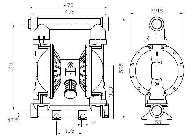 mbv50 aluminium diaphragm pump